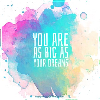Watercolor background with motivational quote