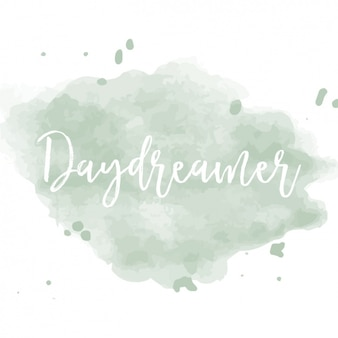 Watercolor background with motto