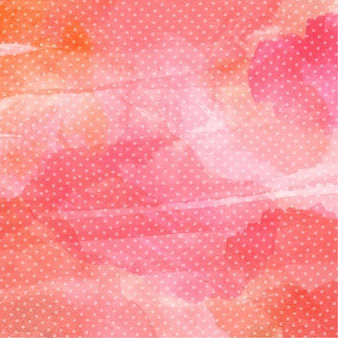 Watercolor background with polka dot pattern