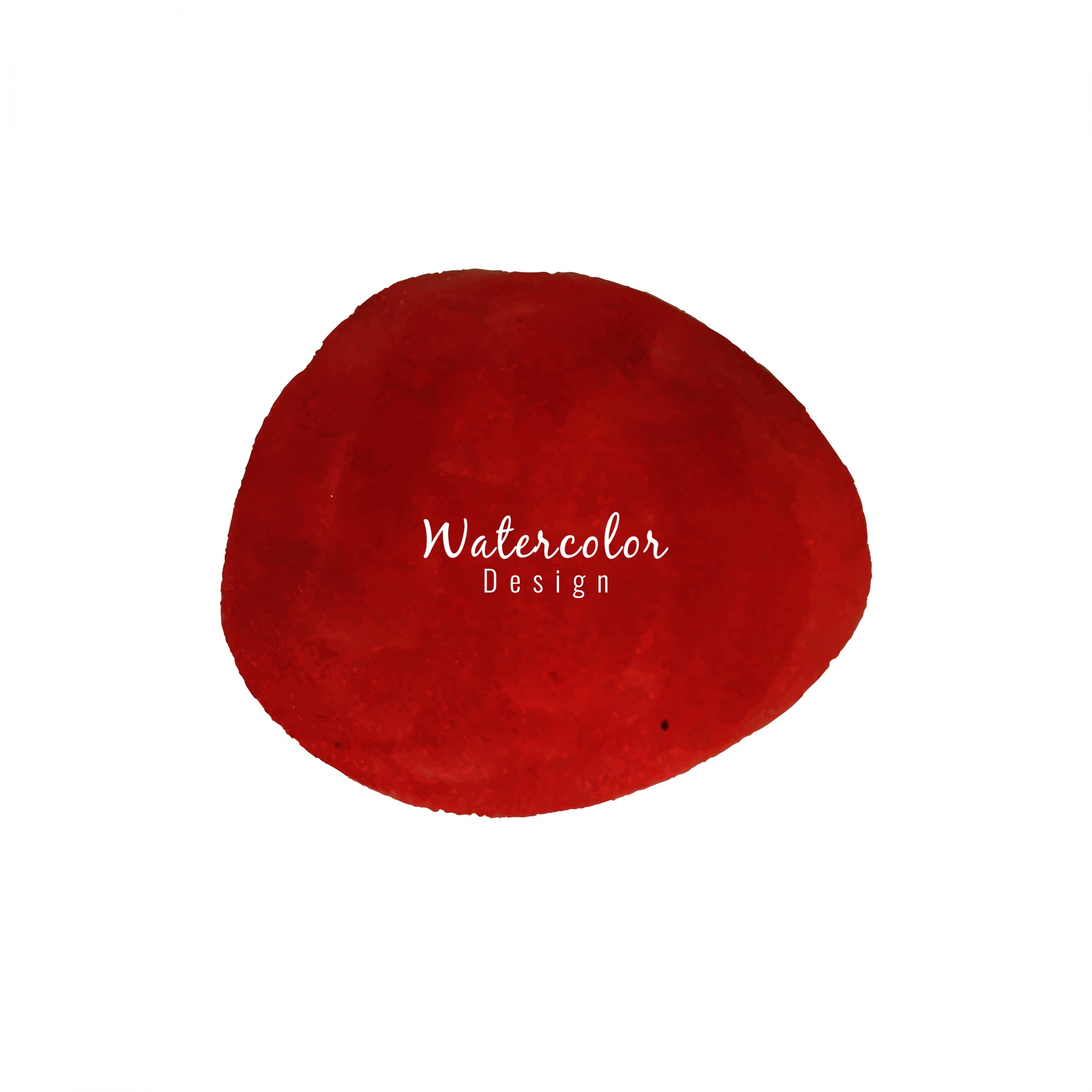 Watercolor background with red stain