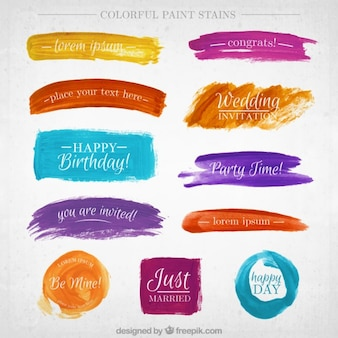 Watercolor banner collection
