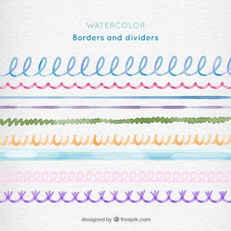 Watercolor borders and dividers