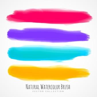 実際の手で塗られた水彩ブラシのトロクロセット