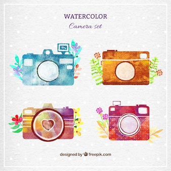 Watercolor cameras set