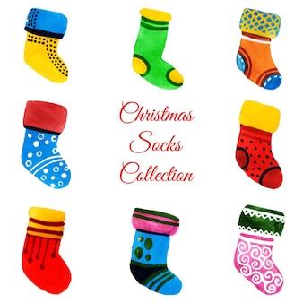 水彩クリスマスオーナメントコレクション