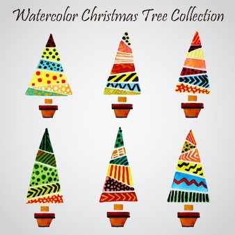 Watercolor Christmas Ornaments Collection
