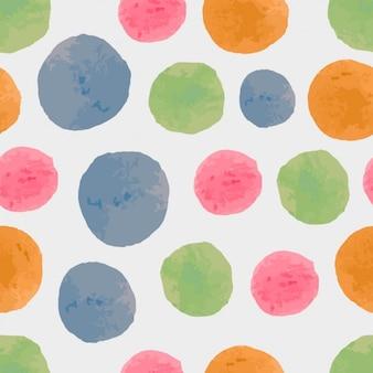 Watercolor circles pattern