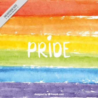 Watercolor colorful background of pride day