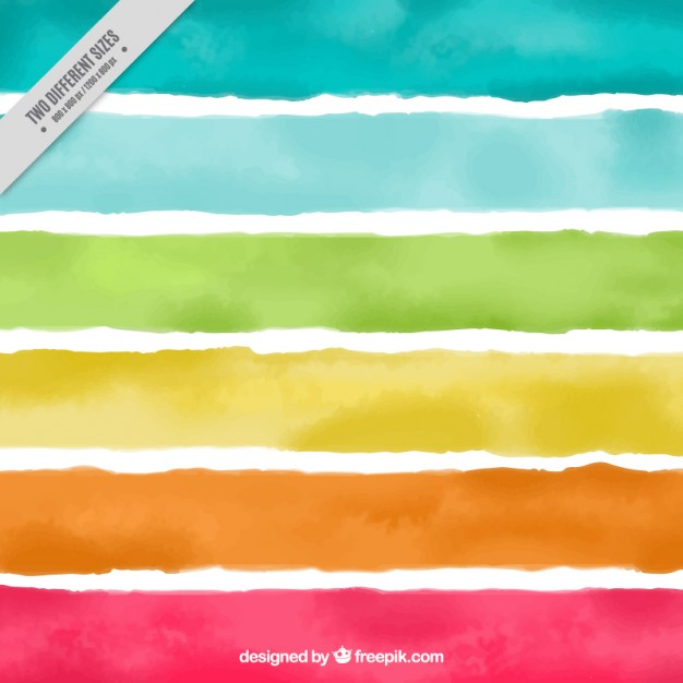 Watercolor colorful striped background