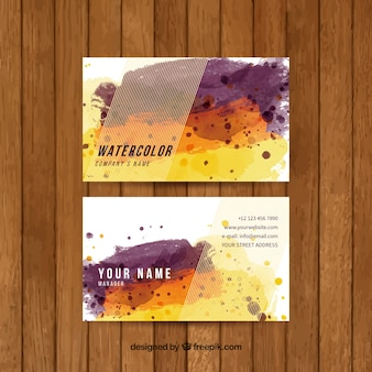 Watercolor corporate card
