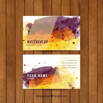 Watercolor corporate card
