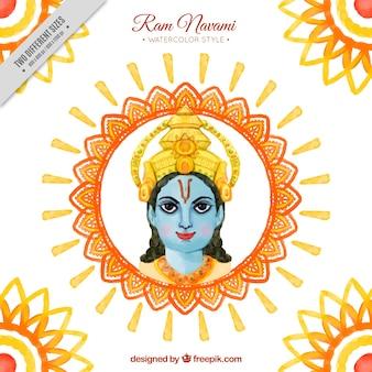 ラムnavamiの水彩画装飾背景