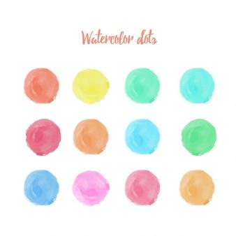 Watercolor dots