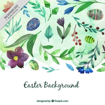 Watercolor Easter background