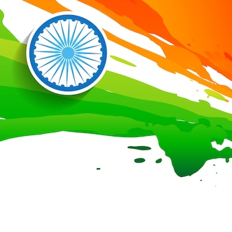 Watercolor flag design for indian independence day