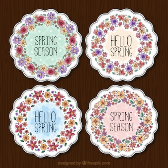 Watercolor floral decoration stickers
