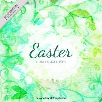 Watercolor floral easter background