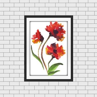 Watercolor Floral Frame Mockup