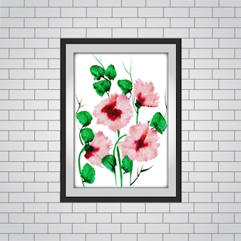 Watercolor Floral Frame Mockup