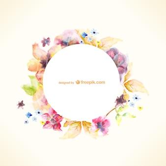 水彩花のベクトルアート