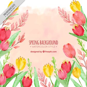 Watercolor flower background