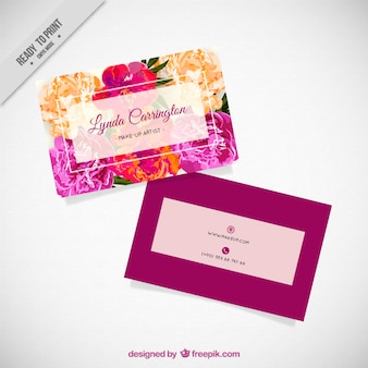 Watercolor flowers company card