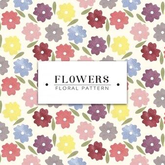 Watercolor flowers pattern design