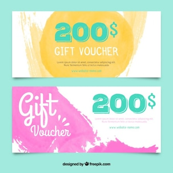 Watercolor Gift Voucher Collection