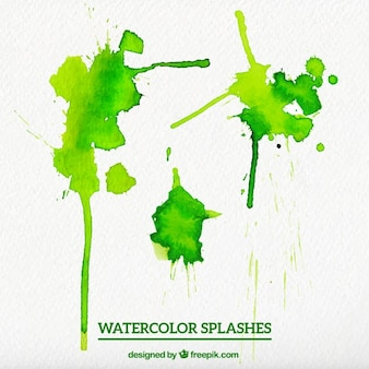 Watercolor Green Splashes