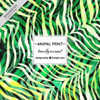 Watercolor green stripes background