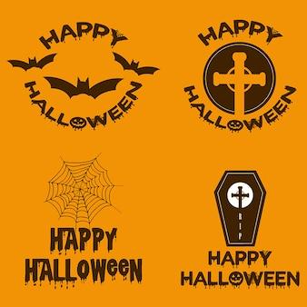 Watercolor halloween logo designs