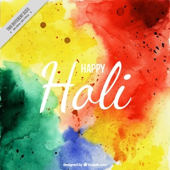 Watercolor Happy Holi background