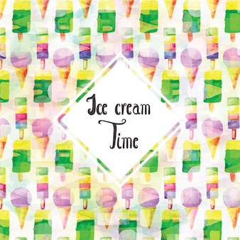 水彩アイスクリームの背景