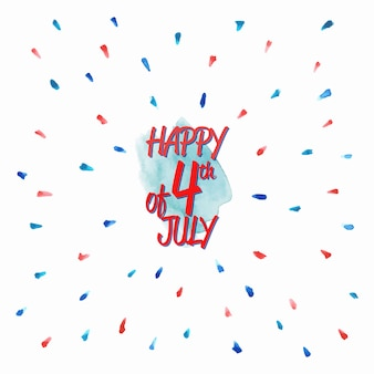 Watercolor independence day design