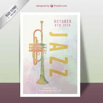 Watercolor jazz festival poster