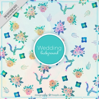 Watercolor little flowers wedding background