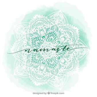 Watercolor mandala background