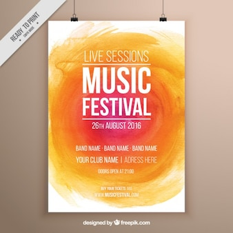 Watercolor music festival poster