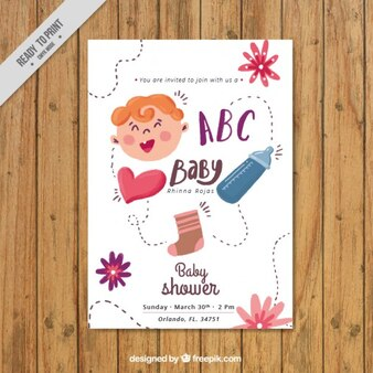 Watercolor nice baby shower card