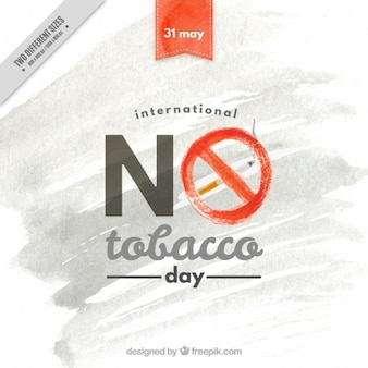 Watercolor no tobacco day background