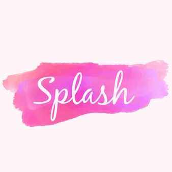 Watercolor paint splash in pink color