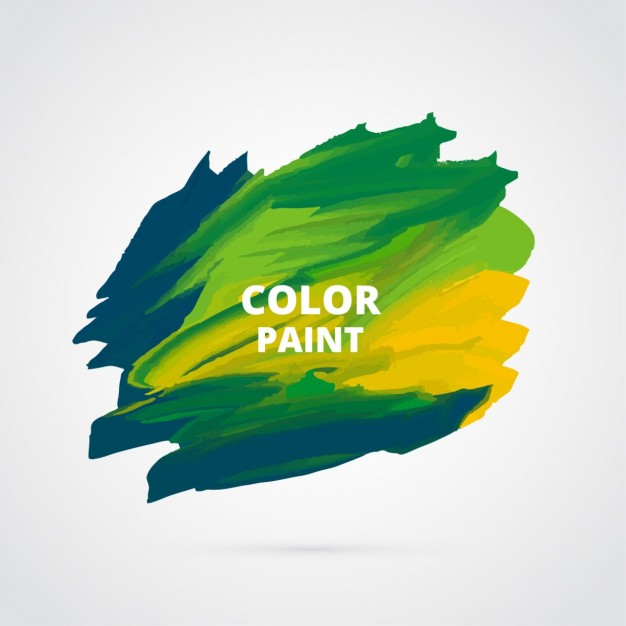 Watercolor paint stain vector design