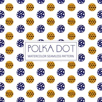 Watercolor Polka Dot Background
