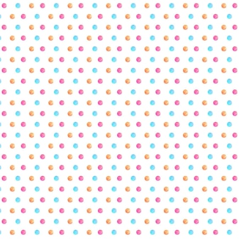 Watercolor polka pattern
