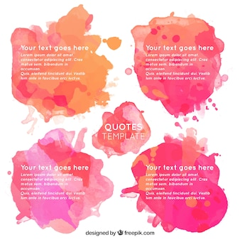 Watercolor quotes template