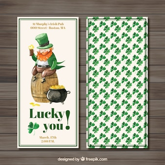 WaterColor Saint Patrick Day Flyer