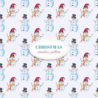 Watercolor Snowman pattern