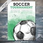 Watercolor soccer tournament flyer