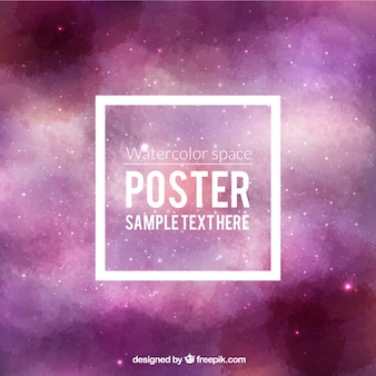 Watercolor space poster