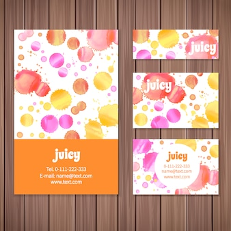 Watercolor stains stationery design